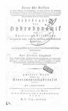 2. Bd. Herrn Abt Bossuts Lehrbegriff der Hydrodynamik