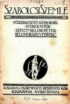 Szabolcsi Szemle 1934 1
