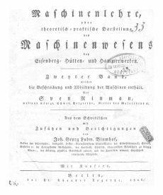 Maschinenlehre, oder praktische Darstellung der Maschinenwesens