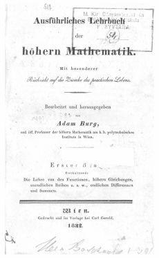 Ausführliches Lehrbuch der höheren Mathematik 1