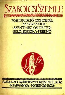 Szabolcsi Szemle 1934 4