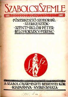 Szabolcsi Szemle 1935 4