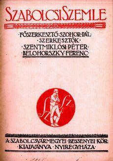 Szabolcsi Szemle 1935 5