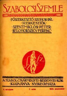 Szabolcsi Szemle 1935 7