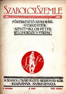 Szabolcsi Szemle 1935 8