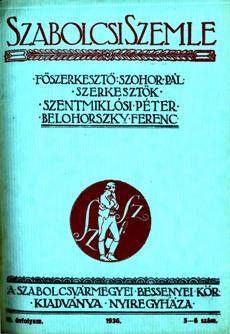 Szabolcsi Szemle 1936 5 6