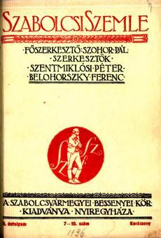 Szabolcsi Szemle 1936 7 10