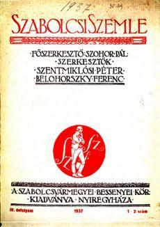 Szabolcsi Szemle 1937 1 2