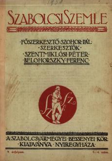 Szabolcsi Szemle 1938 1 4