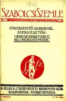 Szabolcsi Szemle 1938 9 10