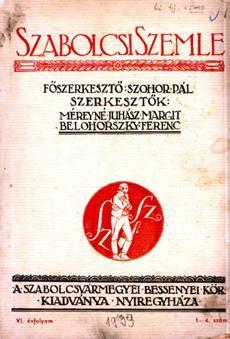 Szabolcsi Szemle 1939 1 4