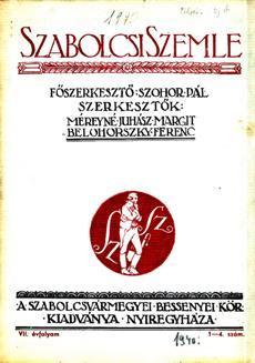 Szabolcsi Szemle 1940 1 4