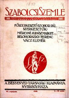 Szabolcsi Szemle 1940 5 10