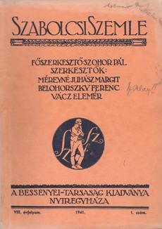 Szabolcsi Szemle 1941 1