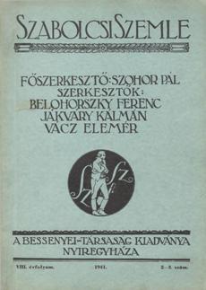 Szabolcsi Szemle 1941 2 3