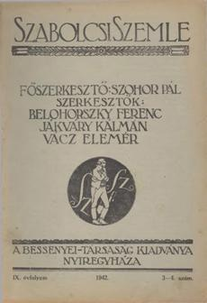 Szabolcsi Szemle 1942 3 4