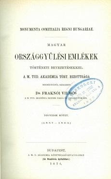 Magyar országgyűlési emlékek