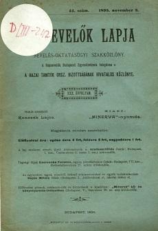 Népnevelők Lapja 1895 (november-december)