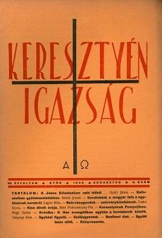 Keresztyén Igazság 1940 (augusztus)