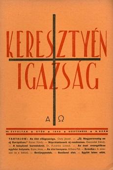 Keresztyén Igazság 1940 (szeptember)