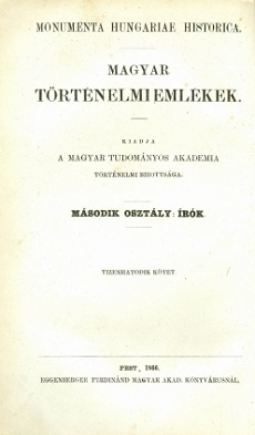 Ghymesi Forgách Ferencz nagyváradi püspök magyar historiája 1540-1572