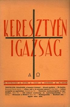 Keresztyén Igazság 1940 (október)