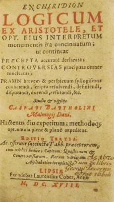 Enchiridion logicum ex Aristotele, et opt. eius interpretum