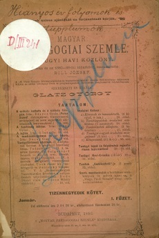 Magyar Pedagógiai Szemle 1893 (január)