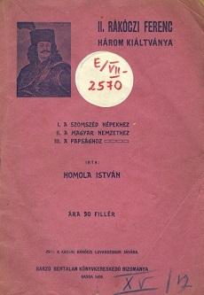 II. Rákóczi Ferenc három kiáltványa
