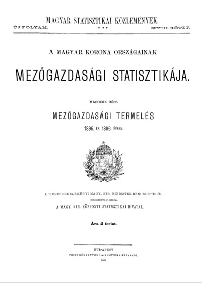 Mezőgazdasági termelés 1895. és 1896. évben