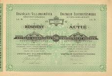Az Ungvölgyi Villamosművek Rt. részvénye 200 koronáról