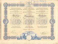 Az Urikány-Zsilvölgyi Magyar Kőszénbánya Rt. részvénye 40 osztrák értékű forintról