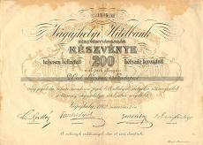 A Vágújhelyi Hitelbank Rt. részvénye 200 koronáról