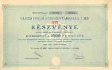A Városi Fürdő Rt. összevont részvénye 1500 pengőről