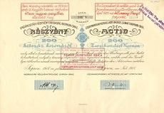A Vasárugyár Rt. részvénye 200 koronáról