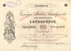 A Vasmegyei Általános Takarékpénztár Rt. részvénye 50 pengőről