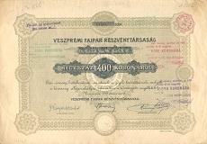 A Veszprémi Faipar Rt. részvénye 400 koronáról