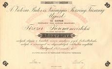 A Victoria Bútor- és Faárugyár Rt. összevont részvénye 10000 koronáról