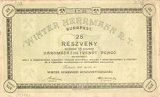 A Winter Herrmann Rt. összevont részvénye 375 pengő értékben