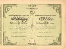 A Zalathnai Kénkovand Ipar Rt. részvénye 200 koronáról