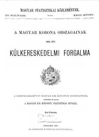 A Magyar Korona országainak 1898. évi külkereskedelmi forgalma