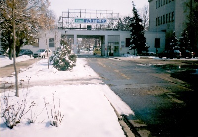 Tisza Cipőgyár bejárata