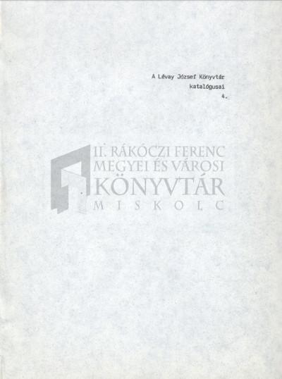 Régi Magyarországi Nyomtatványok I. 1568-1784.