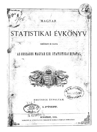 Magyar statistikai évkönyv. 4. évfolyam