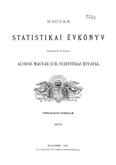 Magyar statistikai évkönyv. 8. évfolyam