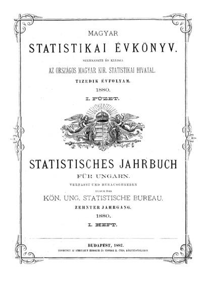 Magyar statistikai évkönyv. 10. évfolyam