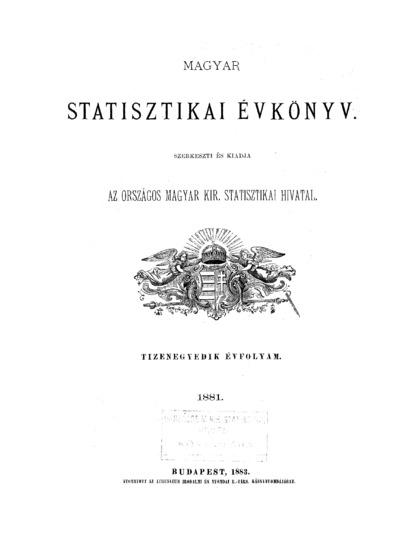 Magyar statistikai évkönyv. 11. évfolyam