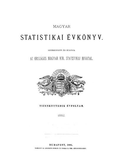 Magyar statistikai évkönyv. 12. évfolyam