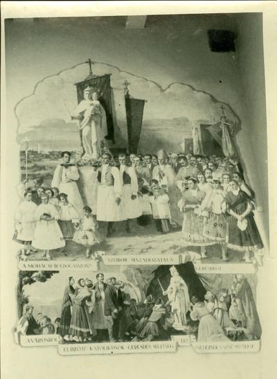 Mohácsi templom freskójhának fotódokumentációja (8.)