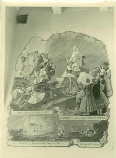 Mohácsi templom freskójának fotódokumentációja (9.)